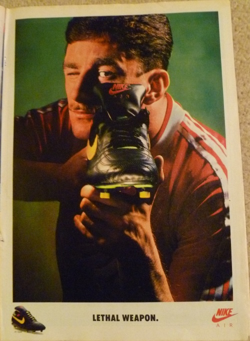 nike air speed john aldridge lethal weapon advert