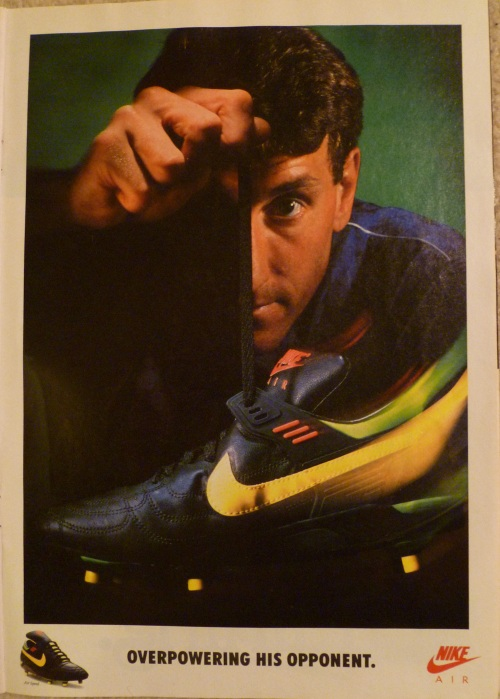 nike air speed terry butcher overpowering advert