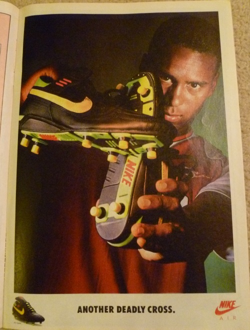 nike air speed david rocastle deadly cross advert