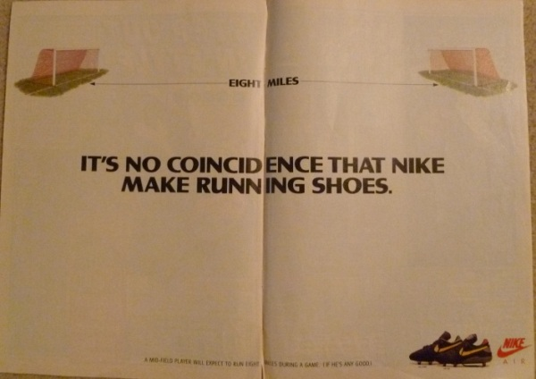 nike air strike air fire football boot running shoes advert