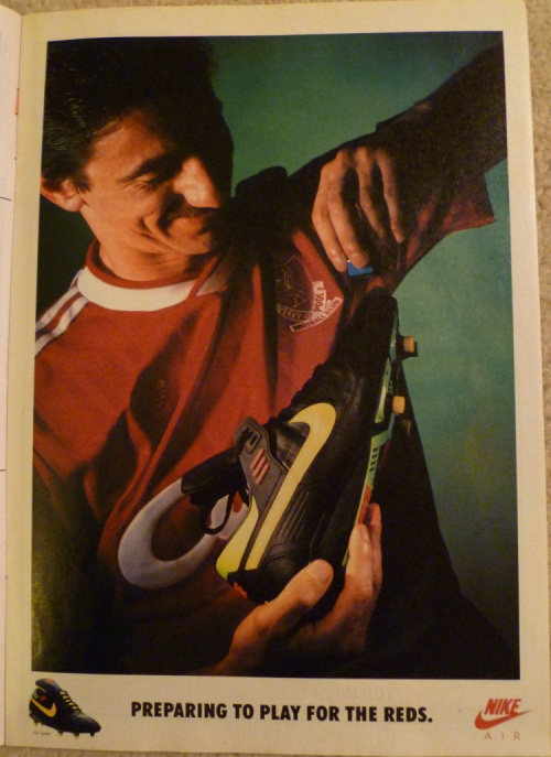 nike air speed ian rush reds advert