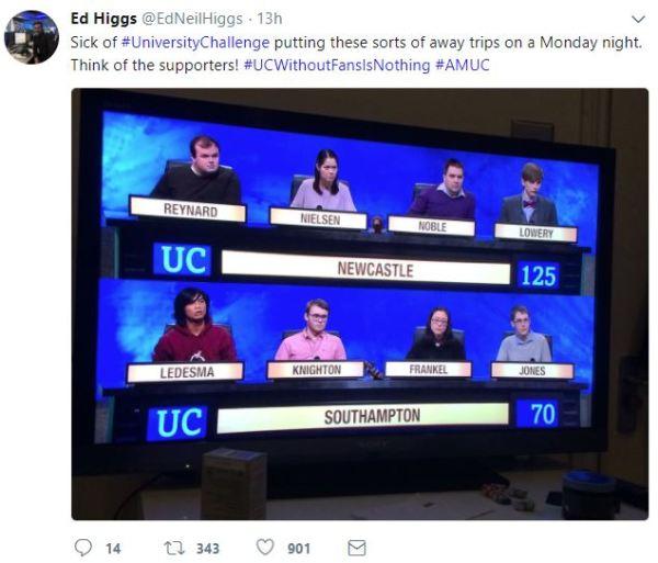 uni challenge away