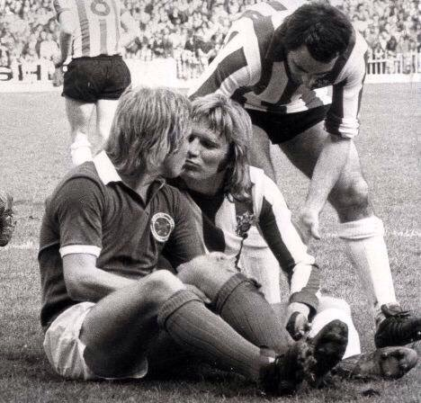 Alan Birchenall and Tony Currie